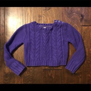 Other - Purple cable knit sweater